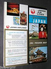 1962. JAPAN AIR LINES. JAL. ADVERTISING BROCHURE FOLDER MAP. CIVIL AVIATION.