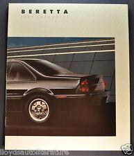 1988 Chevrolet Beretta 20pg Catalog Brochure GT Z51 CL Coupe Excellent Orig 88
