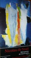 DE STAEL Nicolas Affiche quadri art abstrait abstraction lyrique Fondation
