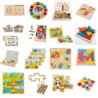 16Styles Wooden Drawing Jigsaw Puzzle Collection Toy Gift For Baby Kids Child S6