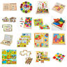 Wooden Tangram Brain Teaser Puzzle Tetris Game Children Play Wood Toy 16StyleH&T