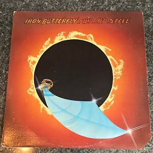 LP VINYL ALBUM IRON BUTTERFLY SUN AND STEEL MCA2164 US 1ST PRESS VG/EX