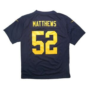 Clay Matthews Nike Green Bay Packers Game Day Youth Jersey Large *MINOR FLAWS