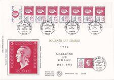 Enveloppe grand format 1er jour 1994 GF Soie Série Marianne de Dulac