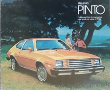 Ford Pinto Sales Brochure  1980