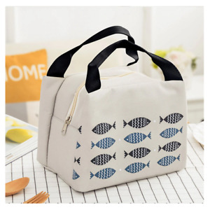 Portable Lunch Bag Insulated Thermal Cooler Box Carry Tote Travel Bag