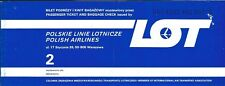 Airline Ticket - LOT Polish - 2 Flight Format - 1981 (T425)