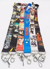 6 Assorted Fullmetal Alchemist Black Buter Dragon Ball Key Chain LANYARD Set #12