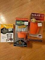 Solofill Eco Carafe Permanent and Keurig Single Cup Lot Bed Bath Beyond NIB