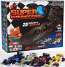 New AFX MegaG+ Super International Ho Slot Car Race Set Tri Power 21018 4 Lane