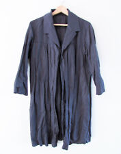 Tengdahl Designer Size 14 Grey Crushed Fabric Collared Open 3/4 Slv Jacket Coat