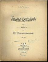 "C. Chaminade,"" Capriccio appassionat "", alte, übergroße Noten"