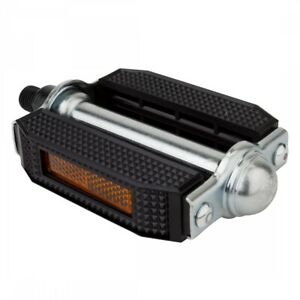 """SUNLITE Classic Block 1/2"""" Black/Silver Bicycle Pedals"""