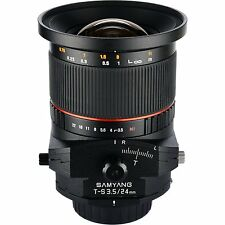 New Samyang 24mm F3.5 Tilt Shift Lens for SLR & DSLR CAMERAS with Case