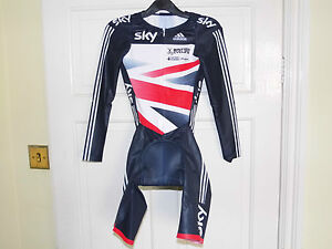 Adidas SKY Team LS Skinsuit - GB OFFICIAL Authentic cycling bike padded shorts