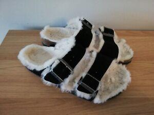 Birkenstock Arizona Shearling Black Sandal - 6/39