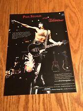 2003 8X11 PRINT Ad FOR KISS PAUL STANLEY SILVERTONE DARK STAR, SOVEREIGN GUITAR