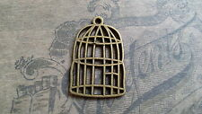 5 X  BIRDCAGE EMBELLISHMENTS/CHARMS, ANTIQUE BRONZE TONE, SCRAPBOOKING,JEWELLERY