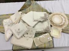 Large Group Of Antique & Vintage Linens Lot 2321