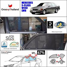 4 PCS SET FOLDABLE CAR SUN SHADE FIT FOR BENZ S-CLASS W140 SEDAN LONG WHEEL BASE
