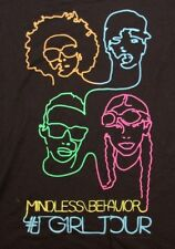 VINTAGE MINDLESS BEHAVIOR ROCK POP MUSIC CONCERT BLACK T SHIRT TEE SZ M NEW NWT