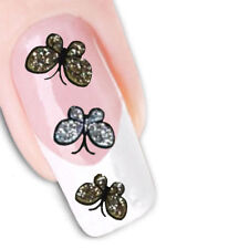 Nail Art Glitter Stickers Decals Transfers Gold Silver Butterflies Butterfly 736