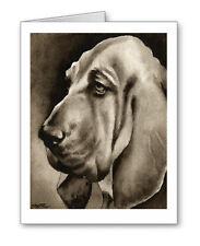 Bloodhound note cards by watercolor artist Dj Rogers