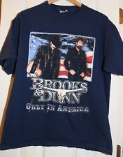 Brooks & Dunn Neon Circus Vintage T Shirt Navy L Large Graphic Tee 100% Cotton