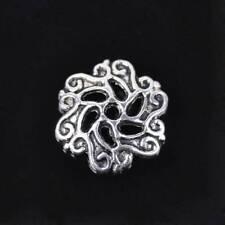 50pcs 12mm Hollow Tibetan Silver Flower Spacer Bead Caps Jewelry Bracelet Making