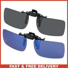 Hifot Clip on Sunglasses 2 Pack, Polarized Lens Fit over Prescription Glasses,