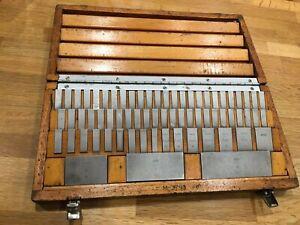 """MATRIX Imperial Slip Gauge Set No:M-3793 (.10"""" - 4"""") Case Complete Herefordshire"""