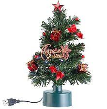 USB-Weihnachtsbaum Weihnachts-Baum mit Farbwechsel-Glasfaser-Lichter Christbaum