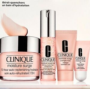 CLINIQUE Moisture Surge 72-Hour Auto-Replenishing Hydrator+Eye+Mask+Lip SET