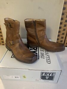The Frye Company Smith Engineer 87077 Tan Leather Boots Men's sz 9.5