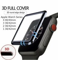 For Apple Watch iWatch Series 1 2 3 4 Full Glue Tempered Glass Screen Protector