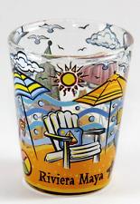 RIVIERA MAYA MEXICO BEACH CHAIR BOTTOM DESIGN SHOT GLASS