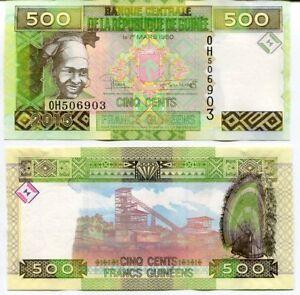 GUINEA 500 FRANCS 2015 P 47 UNC