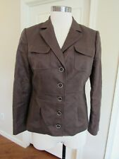 NWT Banana Republic Women's Brown Linen/Cotton Safari Jacket/blazer 10P $130
