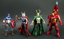 "Avengers Concept Series Box Set_CAPTAIN AMERICA_LOKI_THOR_IRON MAN 3.75"" figures"