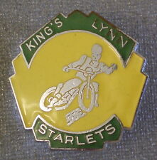 KING'S LYNN STARLETS SPEEDWAY Old/Vintage Enamel Pin Badge MOTOR BIKE. W REEVES