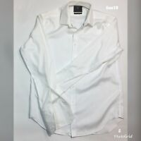 "Formal Dress Shirt White Marks and Spencer Collection Collar 16"" P-P 23"" L 27"""
