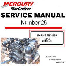 Mercury Mercruiser GM V6 MCM 262 C.I. Motor Boat Factory Service Manual PDF CD