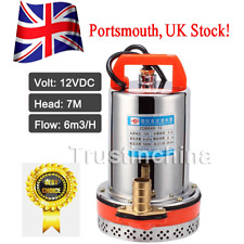 DC 12V Farm & Ranch Solar Powered 26.4GPM Submersible DC Water Well Pump 23FT UK