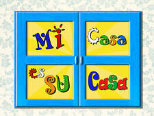 Metal Sign Mi casa su casa spanish decorative home welcome wall door plaque gift