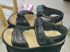 Josef Seibel Mens Leather Sandals Size 48 Size 13/14 Suede Footbed