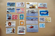 20 diverse Briefmarken Motiv Flugzeuge, Luftfahrt, verschiedene Länder