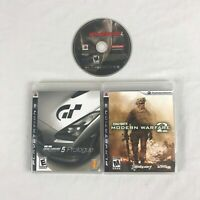 Lot of 3 PlayStation 3 PS3 video games Gran Turismo 5 Metal Gear Solid 4 COD MW2