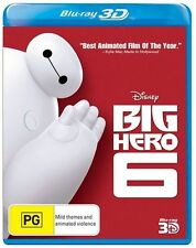DISNEY - BIG HERO 6 - BLU RAY 3D DVD - BRAND NEW & SEALED - REGION B