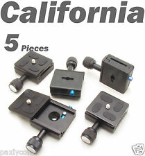 5 X Clamp and QR Quick Release Plate for Tripod Ball Head Camera KS-0 Adapter