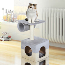 Small Cat Tree Scratcher Post Condo House for Small Cat and Kittens Grey
